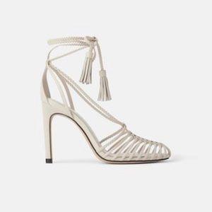 ZARA cage heels 🤩